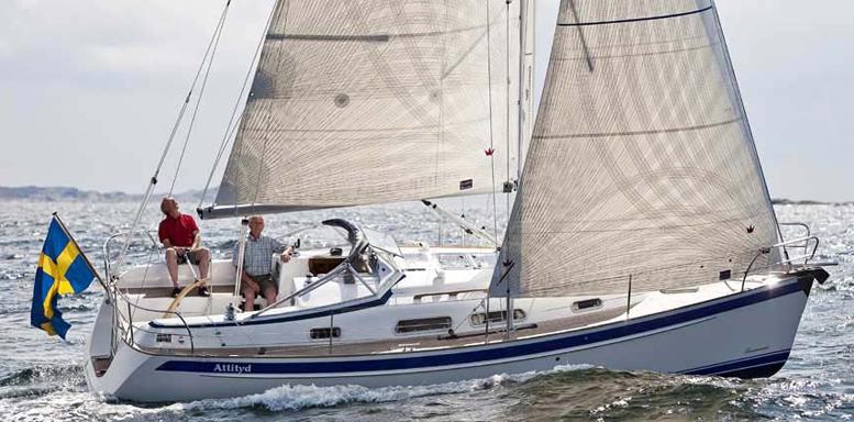 Hallberg Rassy 310 bliver en af de første af de svenske både, som MarineParken får hjem.