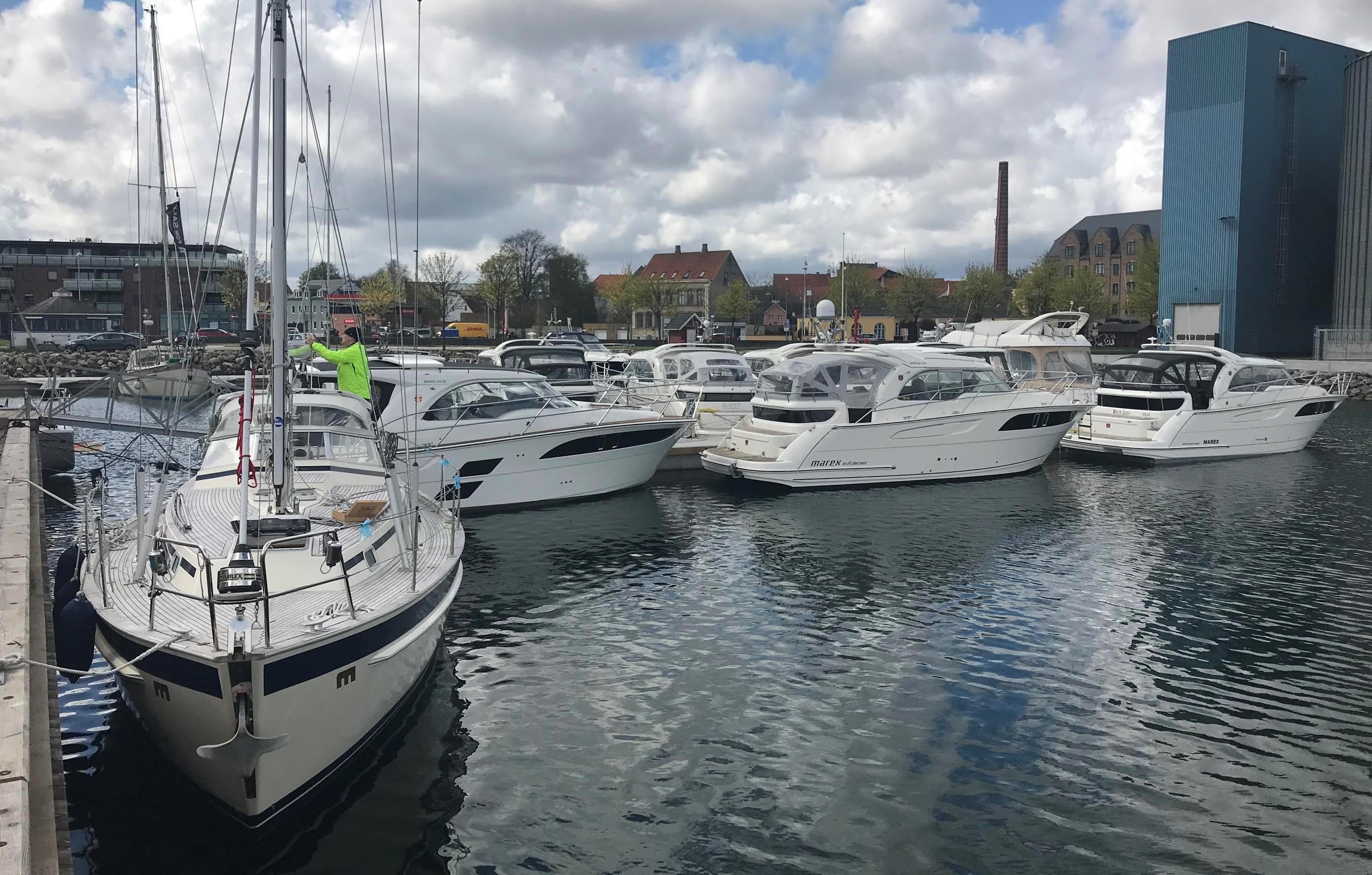 Sådan ser Reese Marins nye havn ud i Sydhavnen i Aabenraa. PR-foto
