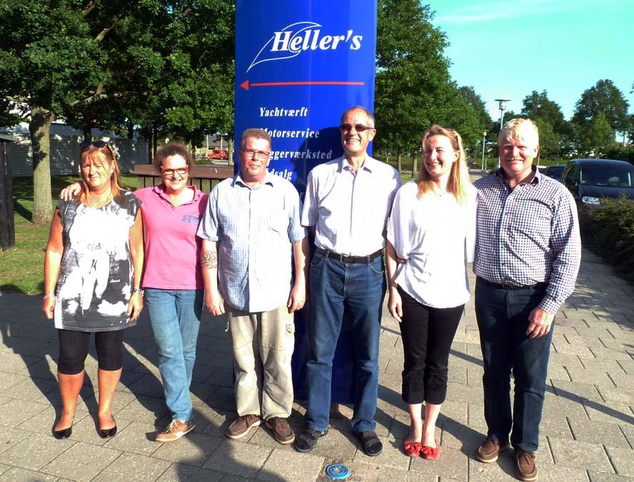 Hele Team Hellers i Kastrup har fået det store smil frem. Resten af juni køres med 20 procents rabat for at fejre sejren, erfarer minbaad.dk