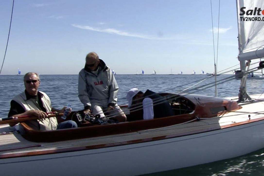 Flot film fra TV 2 Nord dokumenterer prinsernes sejlads i Skagen. Foto: Screenshot