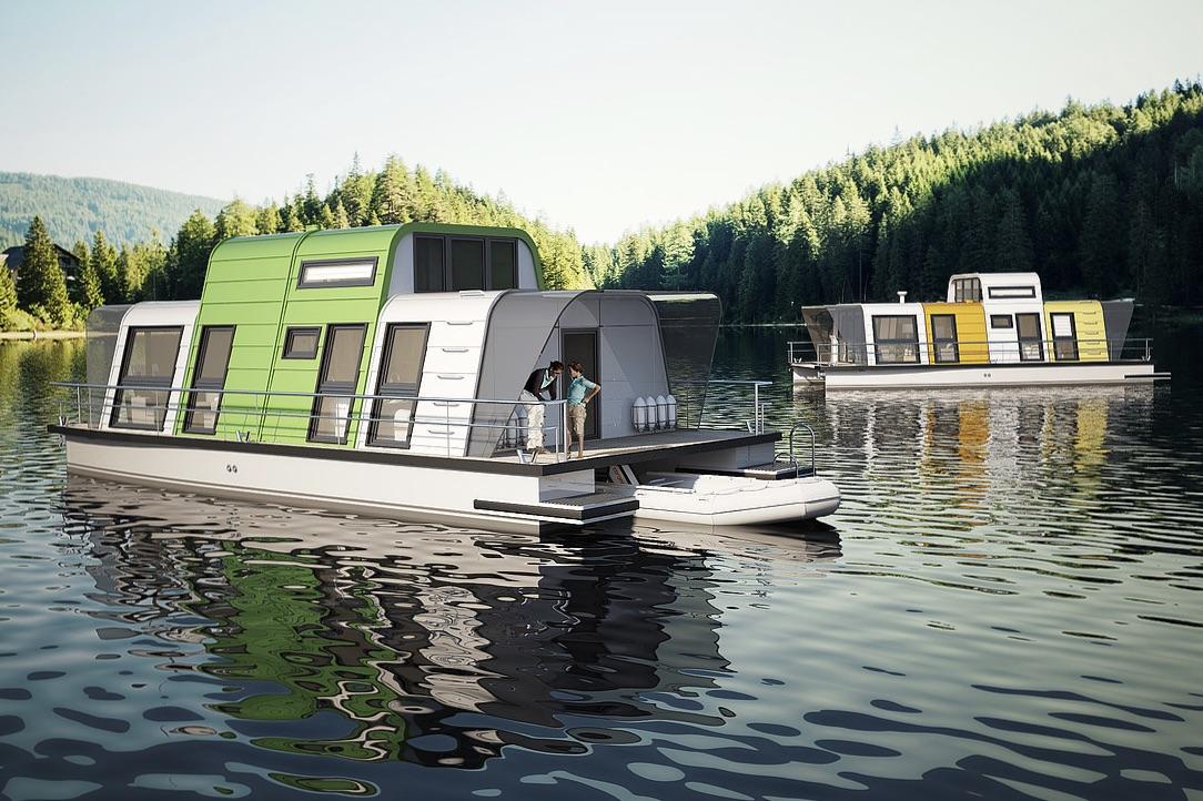 Den nye husbåd er mobil og kan flyttes efter kundernes behov. Foto: PR-foto