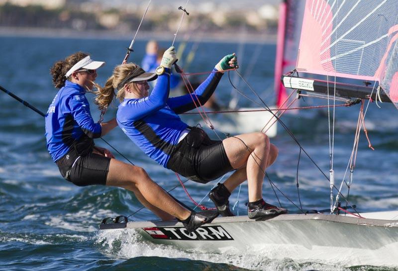 Der var forslag om at vælge 29'erXX til kvindernes skiff-disciplin upfront, men testsejladserne gennemføres. Foto: Foto: Nico Martinez/Eurosaf