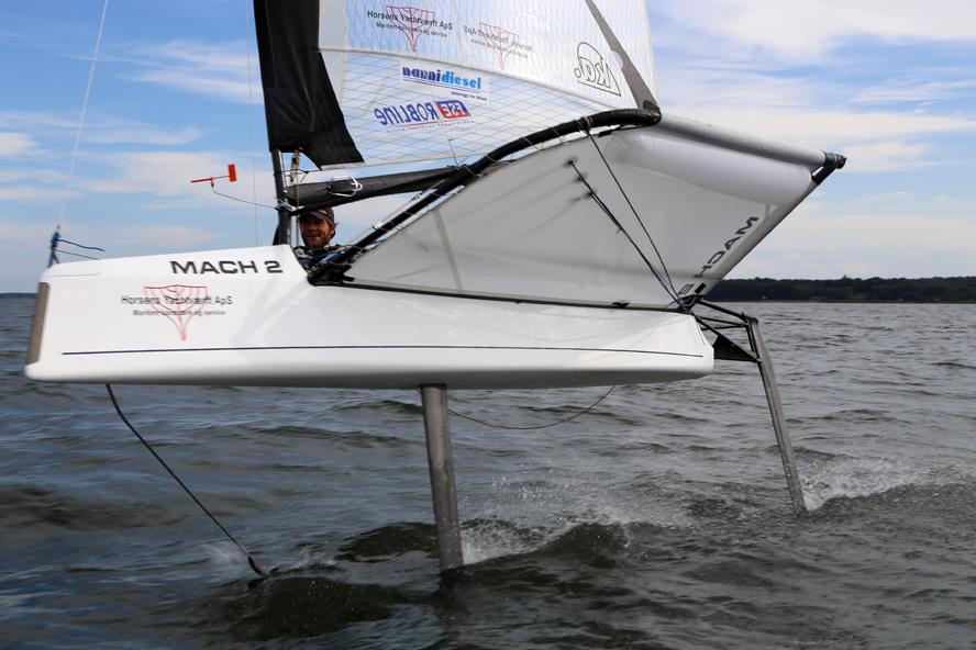 Du kan let sejle over 20 knob i denne Int. Moth. Foto: Troels Lykke