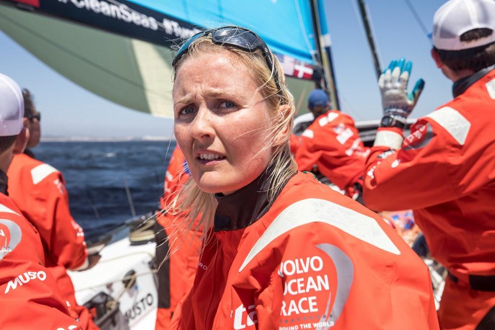 Jena Mai Hansen sejler lige nu mod Newport. Foto: Vestas 11th Hour Racing