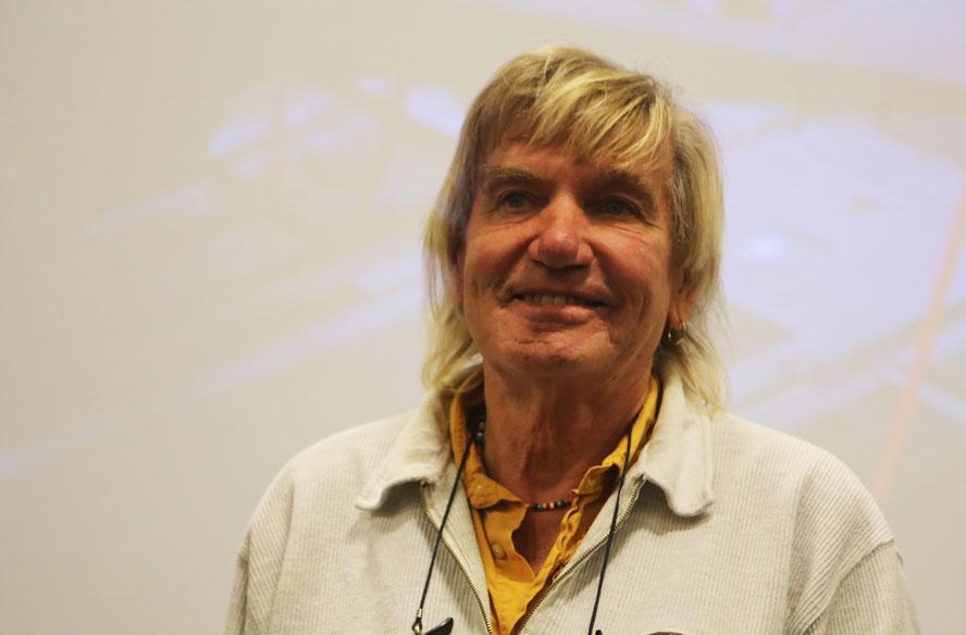 Troels Kløvedal holdt foredrag i oktober hos Bavaria-importør Dansk Marine Center i Risskov.  Her fortalte han til minbaad.dk at han planlagde ny langtur. Foto: Troels Lykke