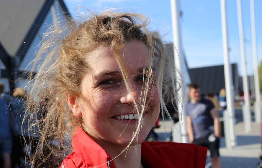 16-årige Anna Munch sejlede igen fra alle drengene. Foto: Troels Lykke