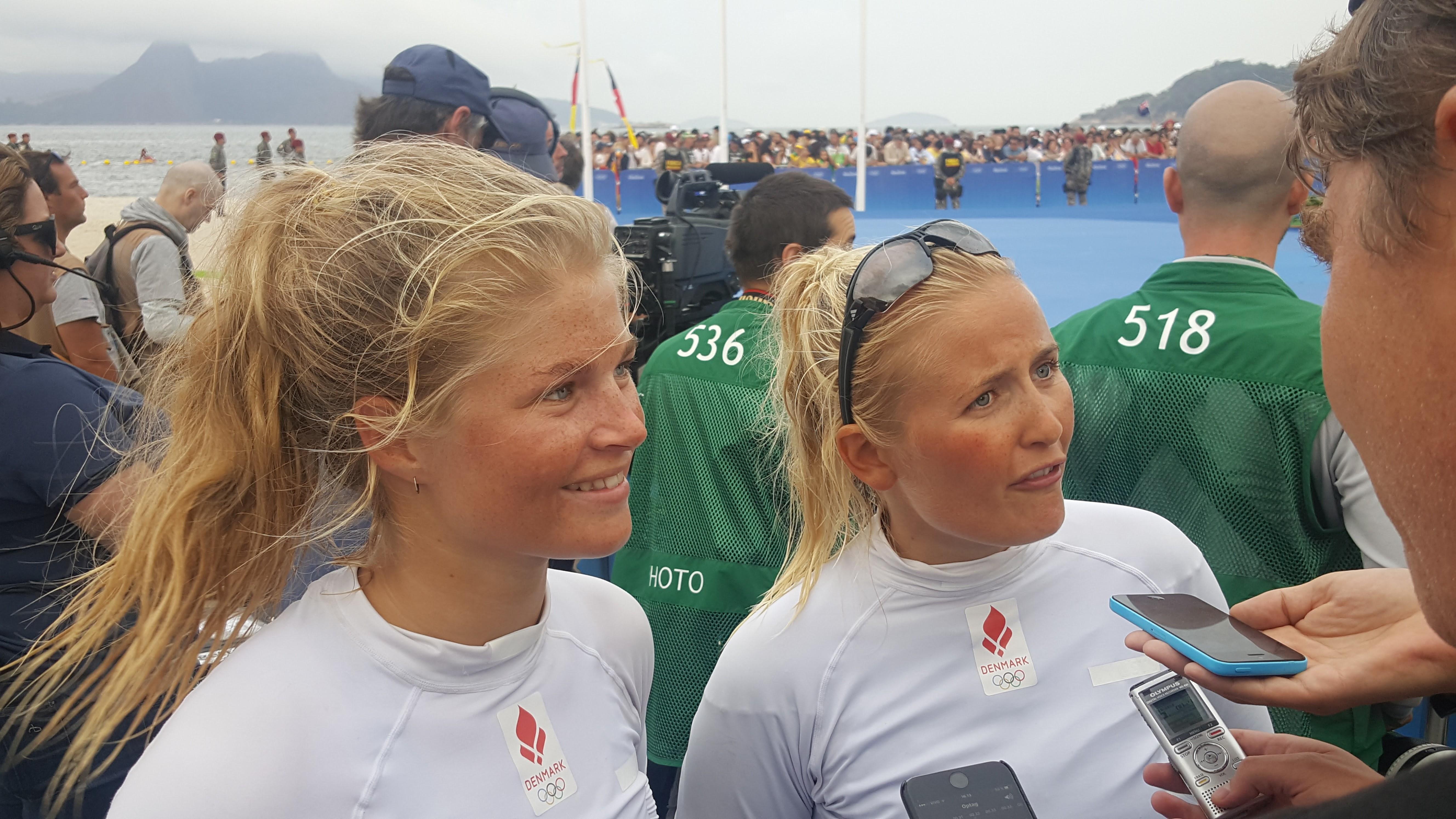Katja, tv. og Jena i Rio, hvor de tog OL-bronze 2016. Foto: Troels Lykke