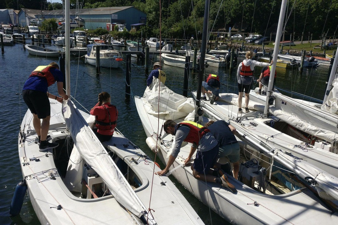 Thurø Sejlklub er blandt andet på baggrund af succesen med de unge sejlere nomineret til Dansk Sejlunions Klubudviklings Pris 2018. Foto: Dansk Sejlunion