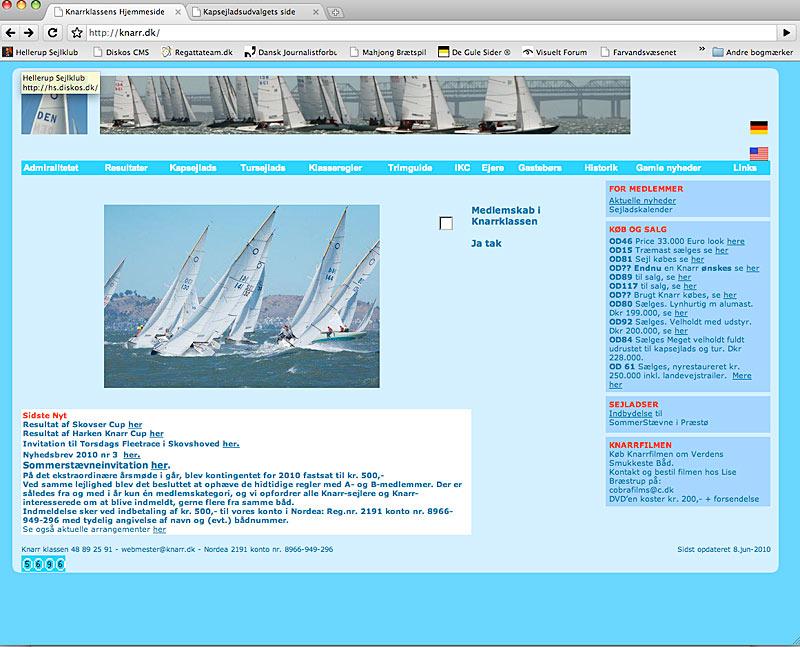 www.knarr.dk skærmdump
