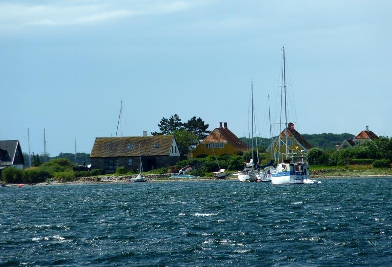 Det blæste også i Langør på Samsø. Foto: Katrine Bertelsen