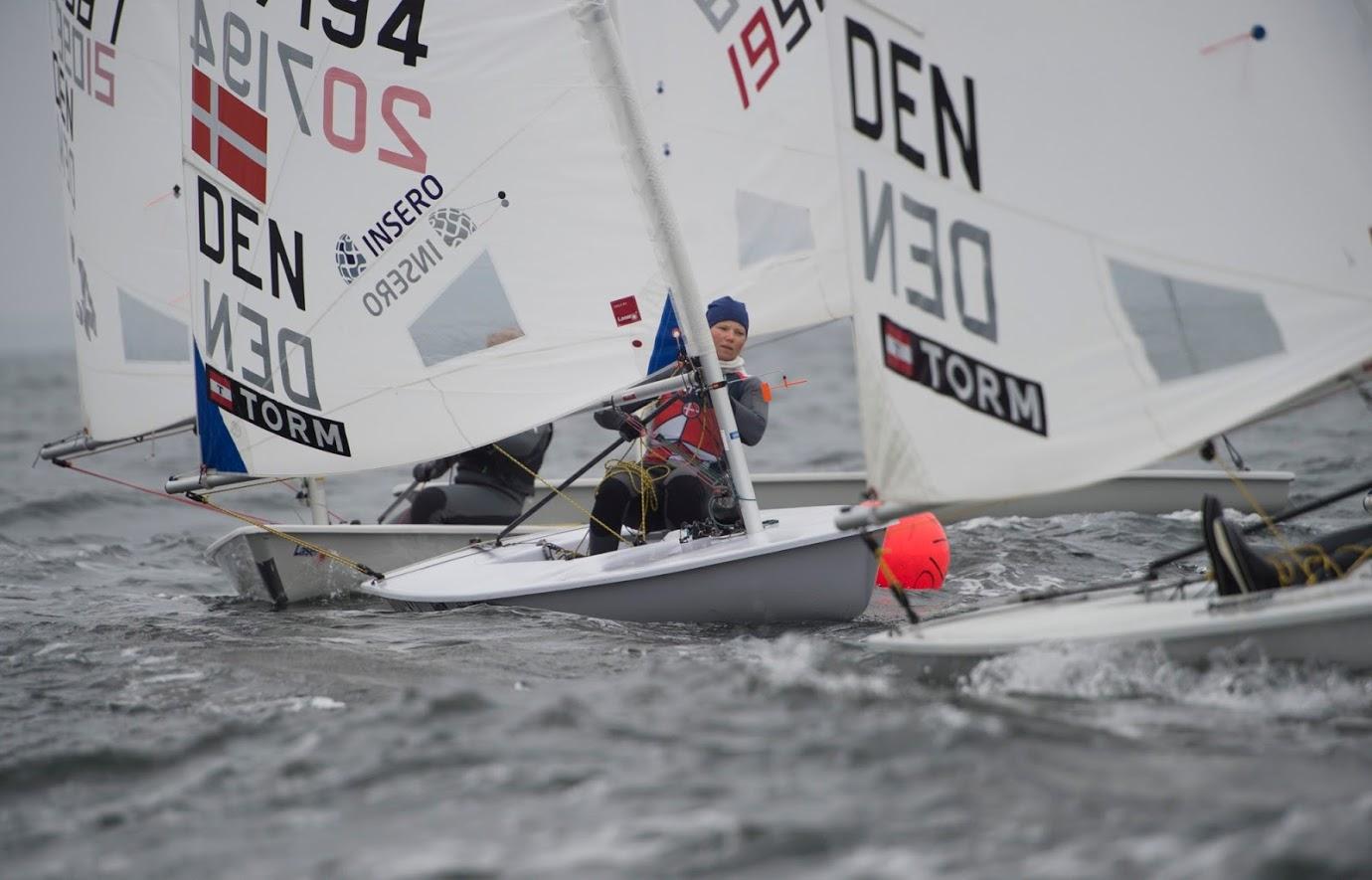 OL bronze vinder, Anne Marie Rindom, havde også fundet vej til træningslejr på Aarhus Bugten. Foto: Jens Thaysen.