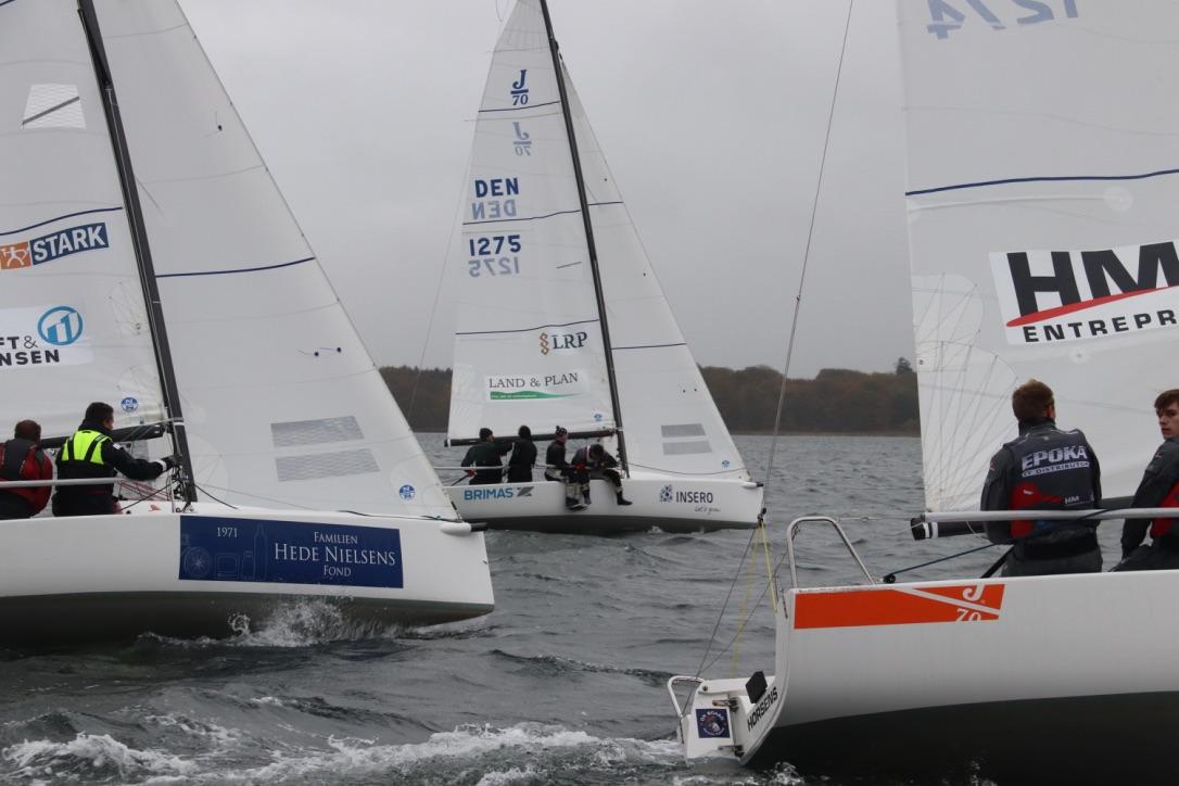 Fem seje besætninger var på vandet i Horsens i weekenden. Foto: Sejlsportsligaen