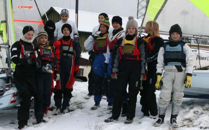 sejlere fra Bogense Sejlklub, Assens Sejlklub og Middelfart Sejlklub som deltager i vinterens månedlige træning.