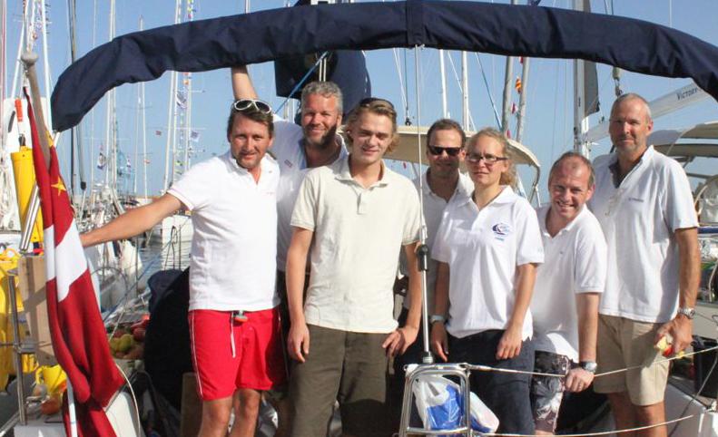 X-holdet før afgang på Gran Canaria 22. november. Nu er holdet over halvvejen mod Caribbien.