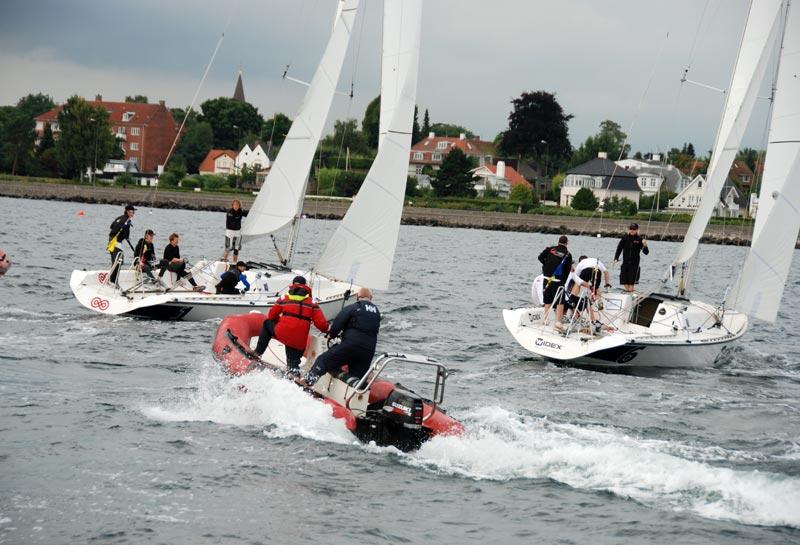 Drama på vandet til Danish Open i 2012. Foto: Keld Stentoft