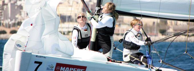 Team Meldgaard redder dansk matchrace ved at komme blandt de otte bedste hold. Foto: Christian M. Borch, sejlsport.dk