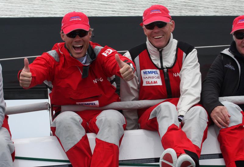 Michael Hestbæk til venstre med Jesper Riise på en Swan 60 i Palby Fyn Cup 2010. Foto: Troels Lykke