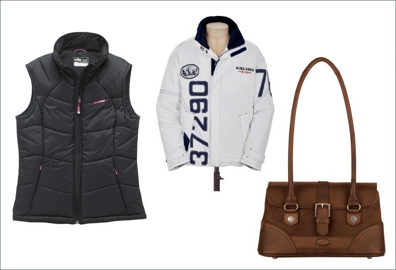 En varm vest, en ny taske og en sejlerjakke med individuelle numre på, er nogle af buddene på forårets bidrag til sejlergarderoben.