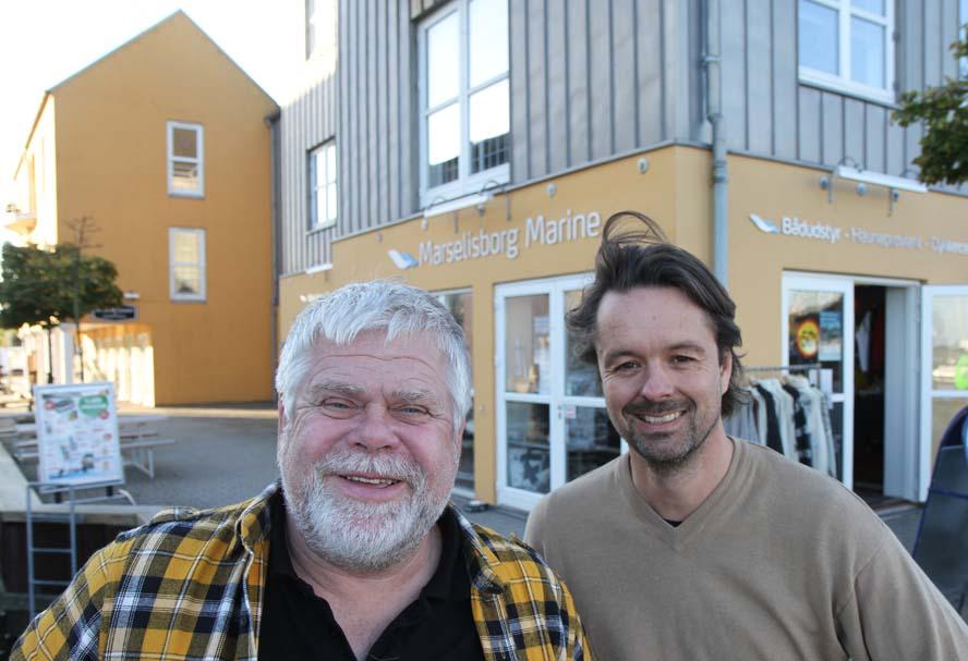 Oluf Grønkjær, tv. driver nu MP Sejl med Jørgen Klitholm. Foto: Troels Lykke