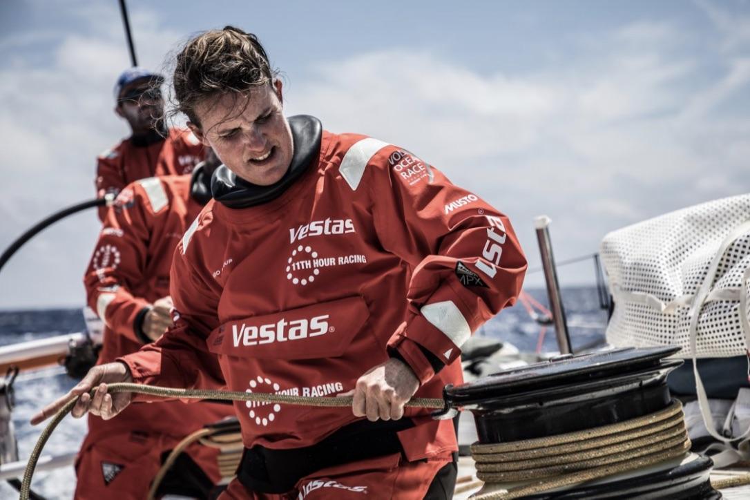 Det dansk/amerikanske Vestas-hold sejler i Musto-tøj i Volvo Ocean Race. Foto: Vestas 11th Hour Racing