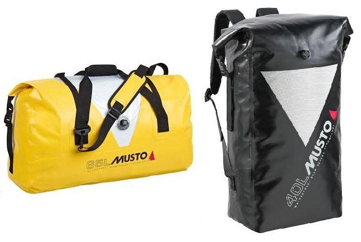 Musto lancerer to vandtætte sejlertasker i farverne gul, sort og rød.