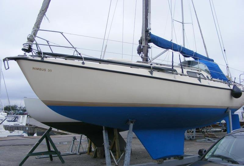 Denne Nimbus 30 fra 1977 koster 185.000 kr. Foto: Kronborg Marine
