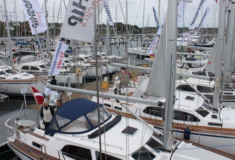 Imponerende opbud af Nordship-både i Kolding Havn. Foto: Nordship