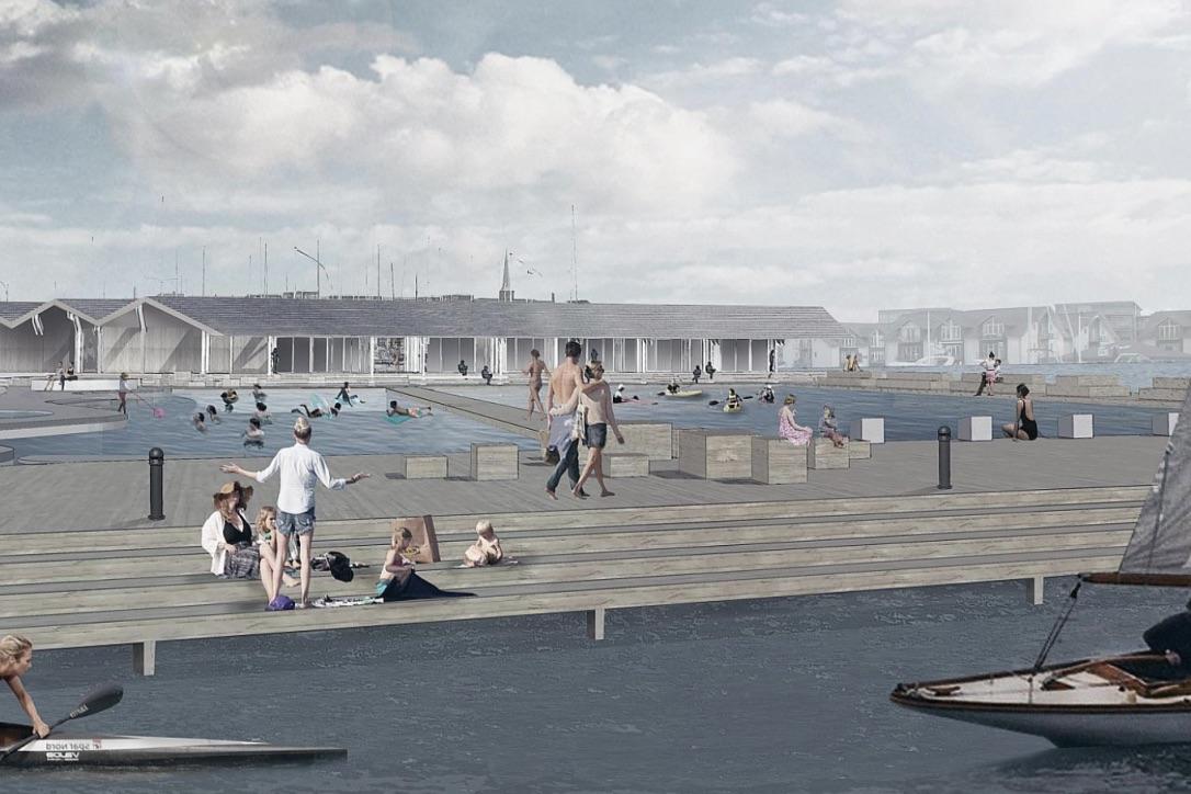 Det nye vandsportsanlæg vil særligt for børnefamilier og aktive sejlere være et oplagt mål på sommertogtet. Foto: Nyborg Kommune