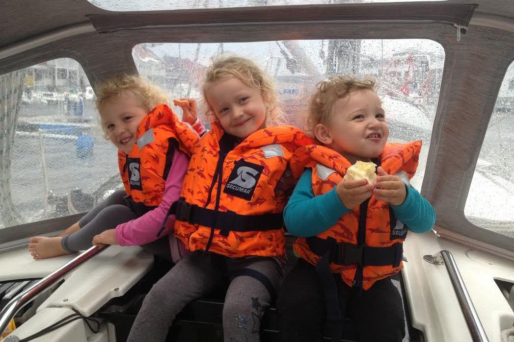 Familien Quitzau giver opskriften på gode oplevelser med børnene ombord. Foto: Ole Quitzau