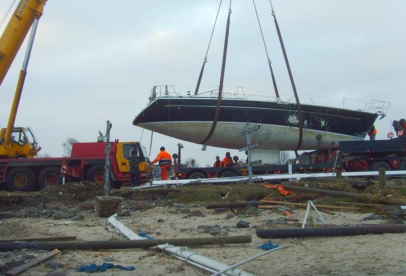 Der er endnu ikke overblik over, hvad skaderne på bådene løber op i. Foto: Svend Holmbo Sørensen/Topdanmark