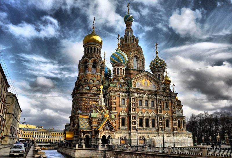 I Skt. Petersborg kan man bl.a. se en meget fin Katedral, Opstandelseskirken. Foto. Det Russiske kulturministerium