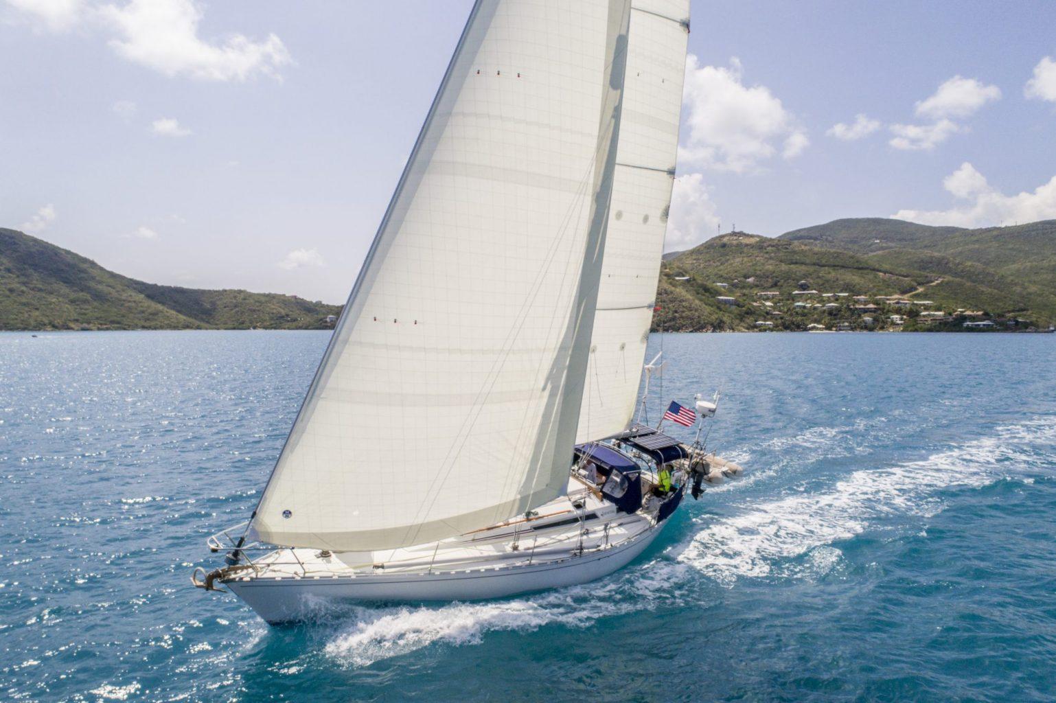 North Sails 3Di NORDAC sejl er bygget af polyester og er mere holdbare. Foto: Amory Ross.