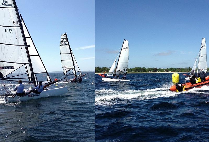 Der skulle 13 sejladser til, før afgørelsen faldt. Foto: Jan Christiansen/sejlsport.dk