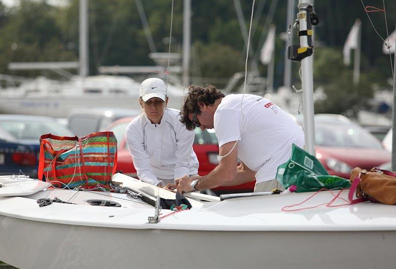 De sydamerikanske sejlere ankom tidligt, og har tid til at trimme og træne. Foto: Peter Søgaard/KDY