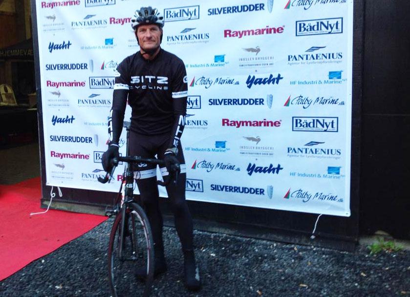 Søren Gitz-Johansen ses her i går i Svendborg, hvor starten gik fredag morgen kl. 9.30.