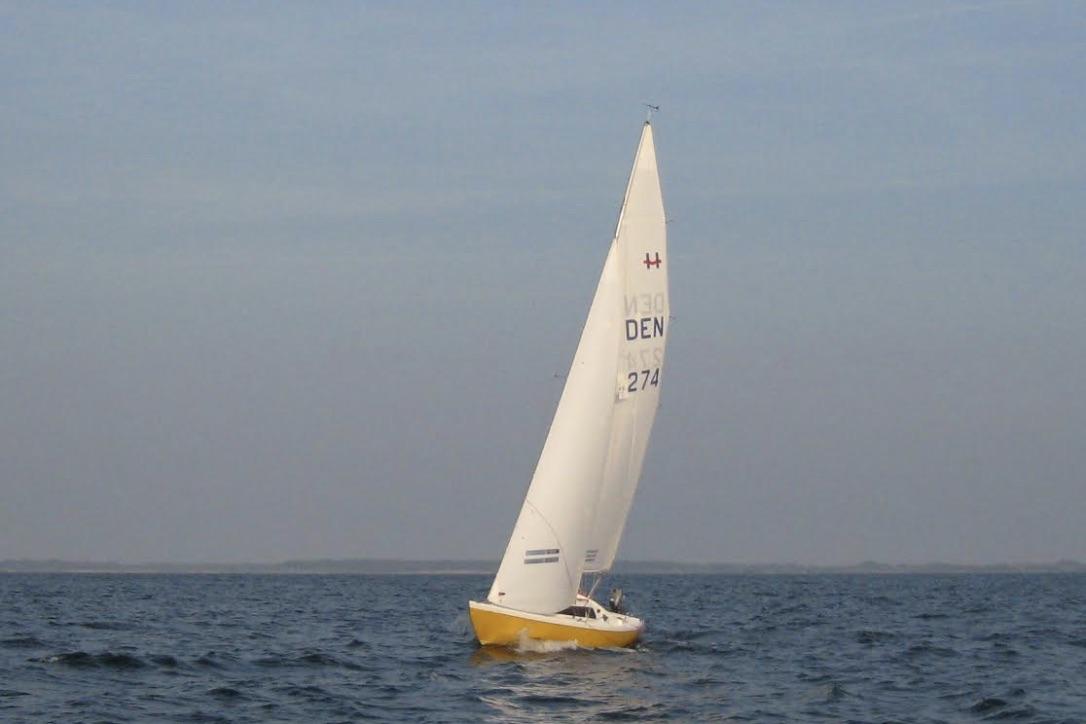 Den ene af Svendborg Amatør Sejlklubs to H-både, Hyænen. Foto: Svendborg Amatør Sejlklub
