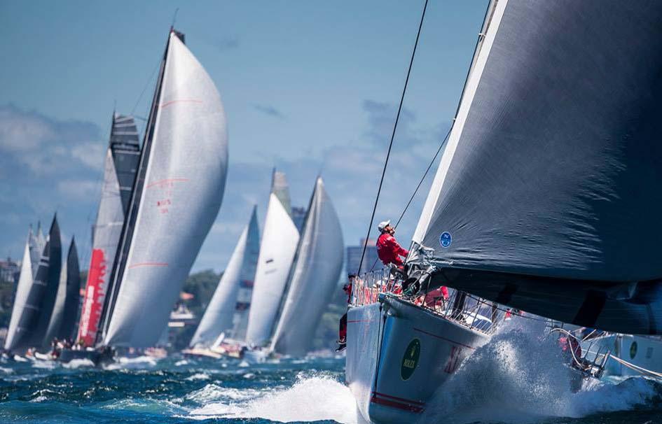 Starten er gået i Sydney Hobart. Foto: Carlo Borlenghi/Rolex