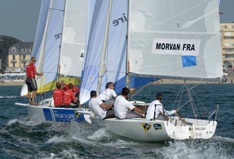 Team Trifork i nærkamp med Pierre-Antoine Morvan i finalen. Foto: ifmr.fr