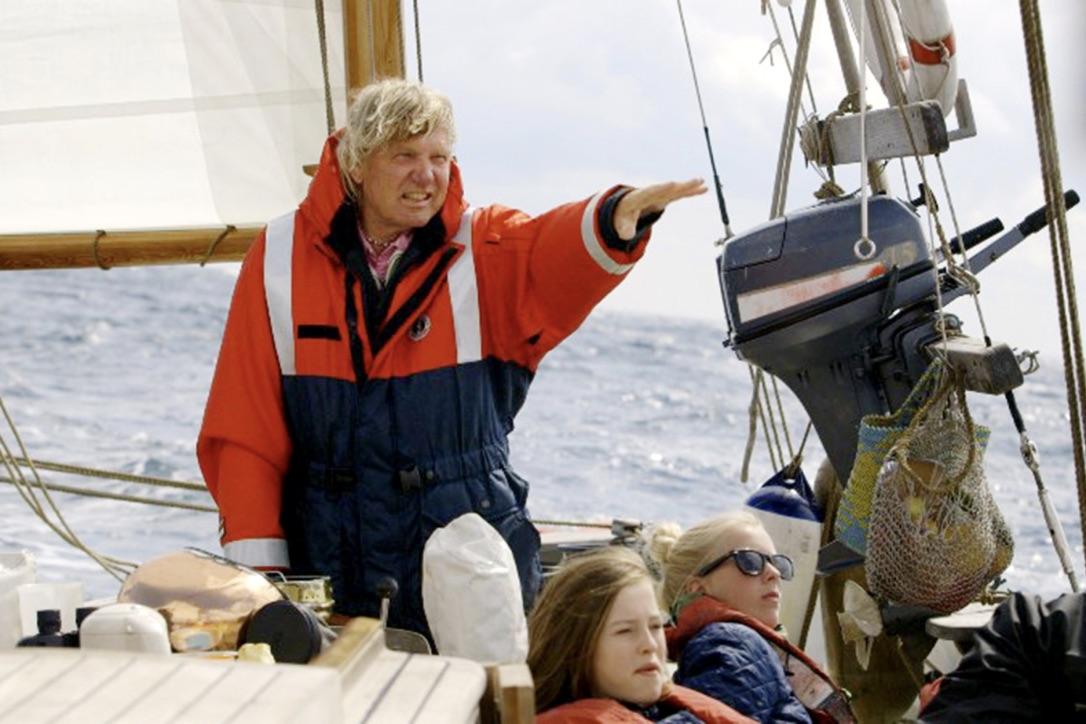 74-årige Troels Kløvedal kæmper med ALS, og har derfor måttet gå på land efter utallige ture på de syv verdenshave. Foto: Privatfoto