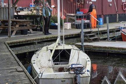 Det er billigt at købe båd i Vallensbæk i januar. Denne sejlbåd er dog ikke en del af auktionen. Foto: Vallensbæk Havn