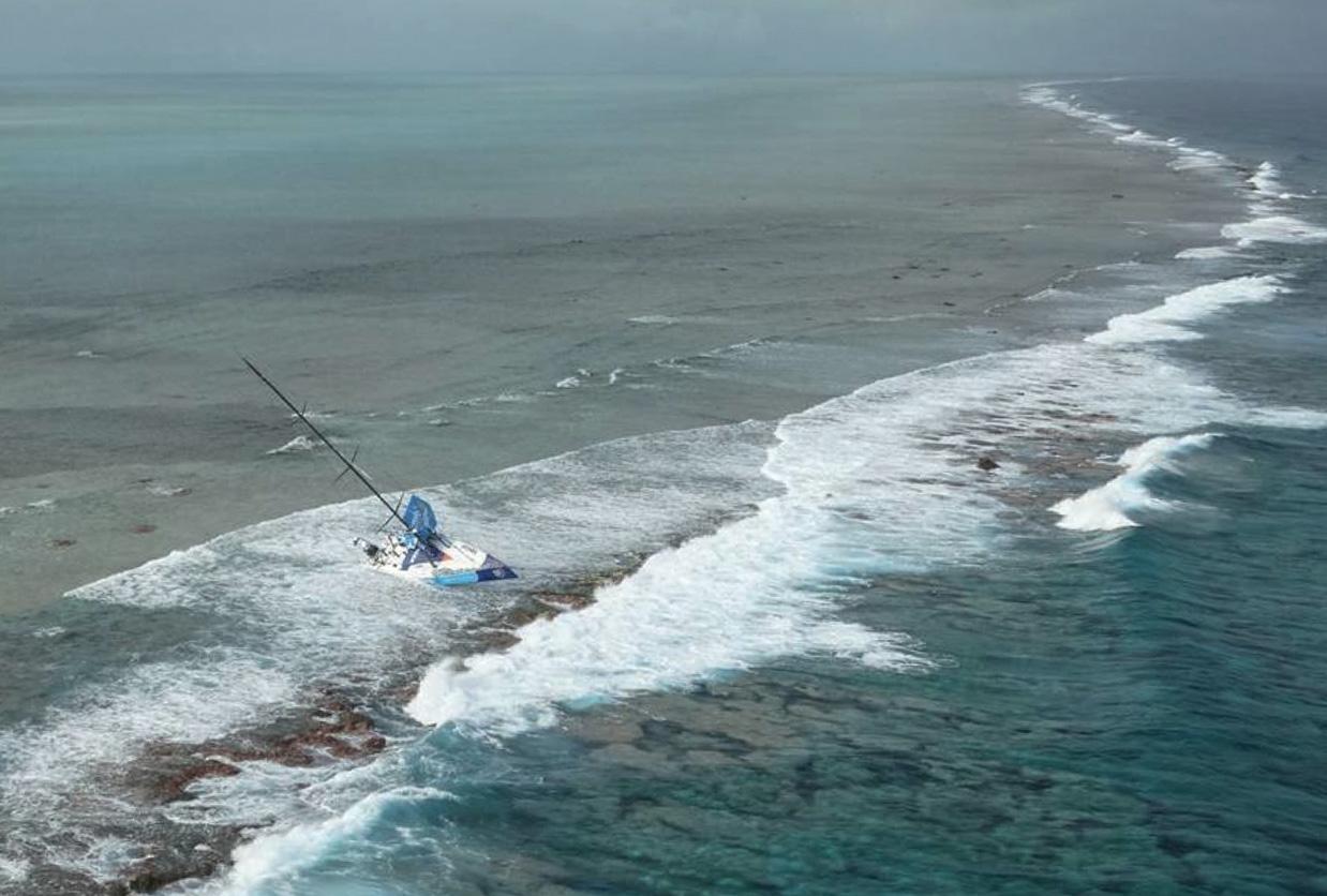 Cargados Carajos er en udstrakt gruppe af koralrev og skær, som ikke er præcist angivet på søkortet, mener Vestas-koncern. Foto: Kystbevogtningen
