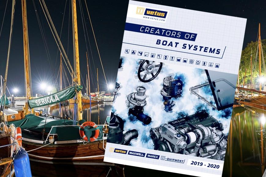 Det nye Vetus-katalog udgives på dansk, engelsk, svensk og tysk. Foto: PR-foto