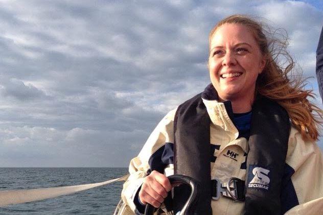 Vibeke Svenningsen i fuld gang med forberedelserne frem mod hendes jordomsejlning i 2018. Foto: Privatfoto
