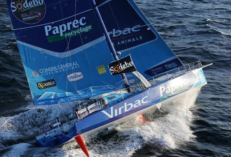 Jean-Pierre Dick på Virbac-Paprec 3 tabte kølen i nat. Foto: Vendee Globe