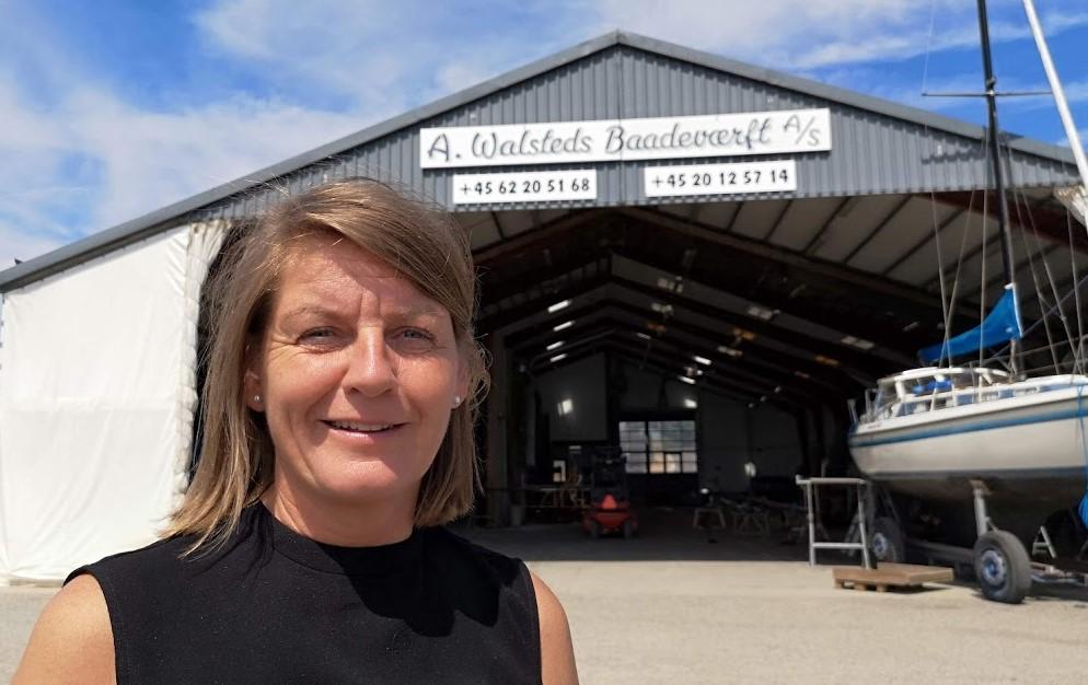 Bettina Walsted overtog Walsteds Bådeværft 1. juli 2018. Foto: Troels Lykke