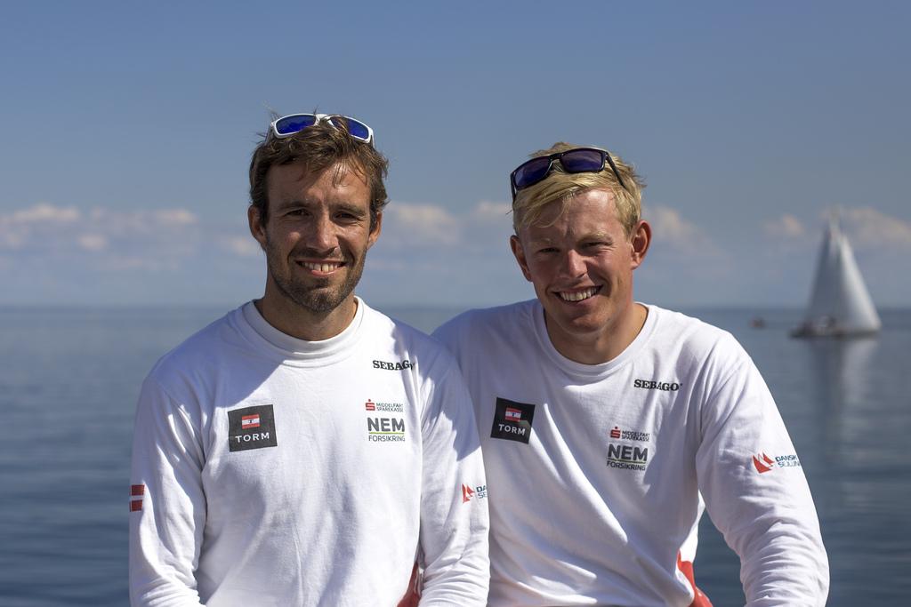 Peter Lang og Jonas Warrer ses her under VM i 2013. De to har vundet World Cup sammen.