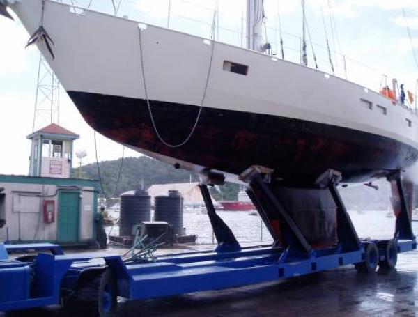 Henrik Elmers båd Waverunner, der forliste i Nordatlanten i 2010. Foto: Henrik Elmer
