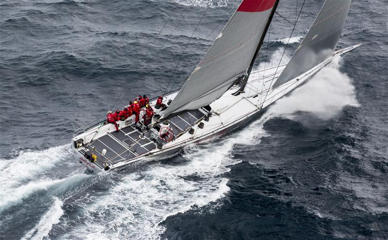 Wild Oats XI er stadig den hurtigste 100 fods sejlbåd i Sydney - Hobart- sejladsen. Foto: ROLEX/Daniel Forster