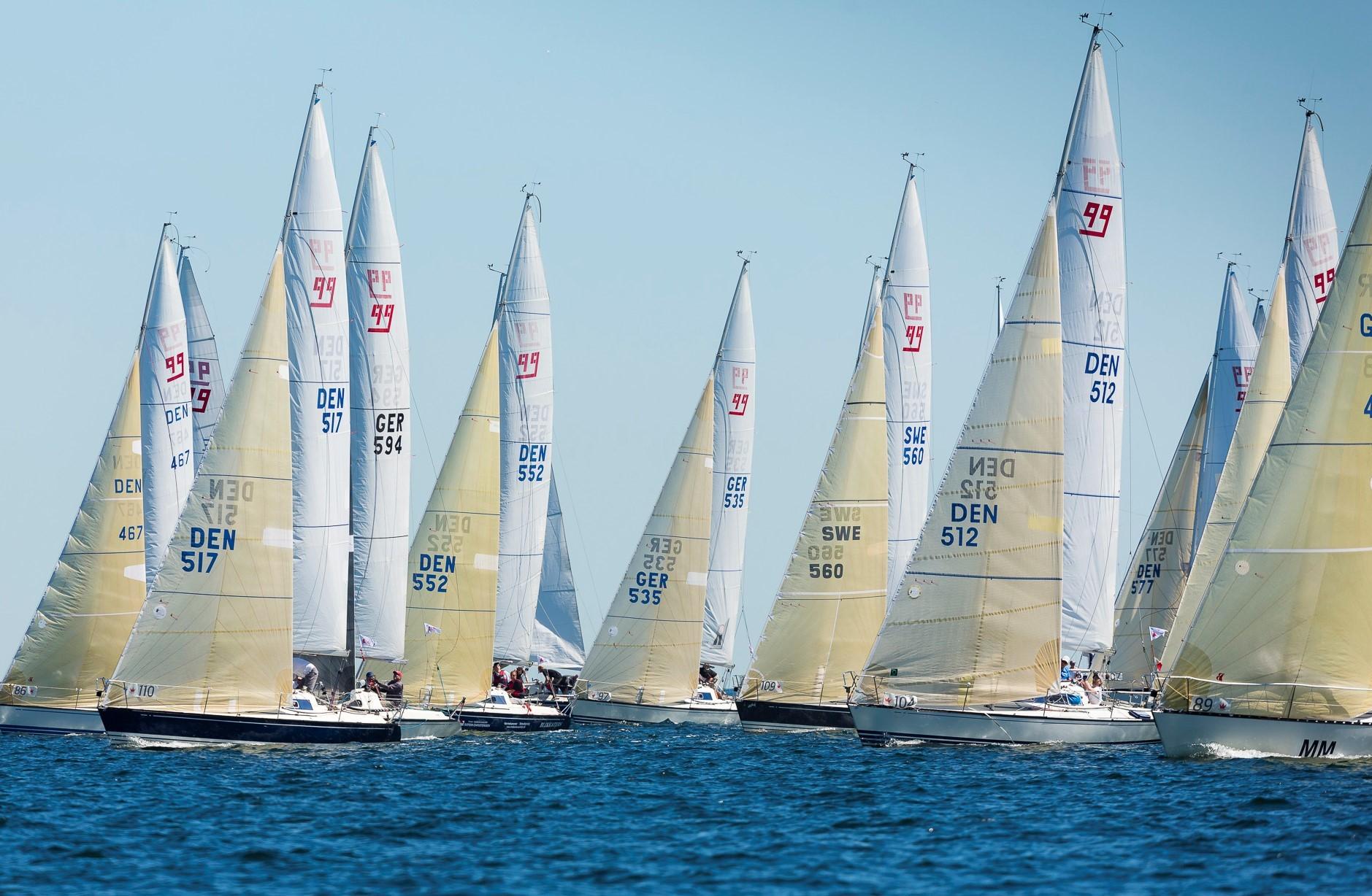 24 X-99ere er klar i Bogense til Palby Fyn Cup. Her et foto fra X-Yachts tidligere Gold Cup. Foto: Mick Anderson/sailingpix