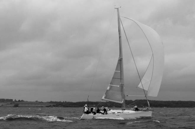 X-Ellent fra Egå under Palby Fyn Cup, hvor X-40eren sejlede 20,6 knob, ifølge racetracker. Foto: Palbyfyncup.dk